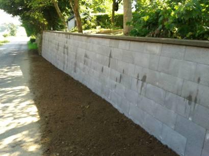 opěrná zeď finální pohled